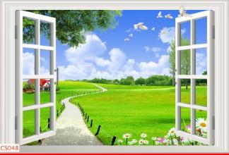 Hình ảnh Tranh dán tường cửa sổ CS048