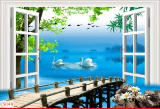 Hình ảnh Tranh dán tường cửa sổ CS049