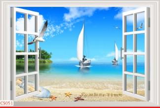 Hình ảnh Tranh dán tường cửa sổ CS051