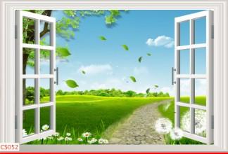 Hình ảnh Tranh dán tường cửa sổ CS052