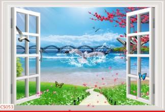 Hình ảnh Tranh dán tường cửa sổ CS053