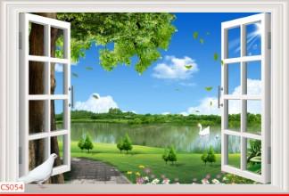 Hình ảnh Tranh dán tường cửa sổ CS054