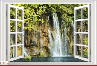 Hình ảnh Tranh dán tường cửa sổ CS056
