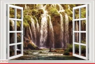 Hình ảnh Tranh dán tường cửa sổ CS058