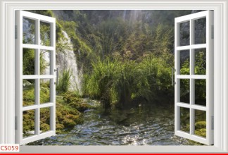 Hình ảnh Tranh dán tường cửa sổ CS059