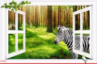 Hình ảnh Tranh dán tường cửa sổ CS06