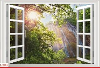 Hình ảnh Tranh dán tường cửa sổ CS060
