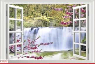 Hình ảnh Tranh dán tường cửa sổ CS062