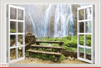 Hình ảnh Tranh dán tường cửa sổ CS063