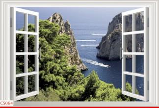 Hình ảnh Tranh dán tường cửa sổ CS064