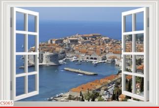 Hình ảnh Tranh dán tường cửa sổ CS065