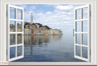 Hình ảnh Tranh dán tường cửa sổ CS066