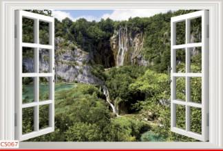 Hình ảnh Tranh dán tường cửa sổ CS067