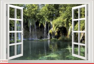 Hình ảnh Tranh dán tường cửa sổ CS068
