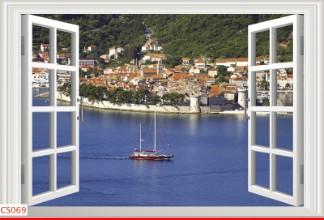 Hình ảnh Tranh dán tường cửa sổ CS069