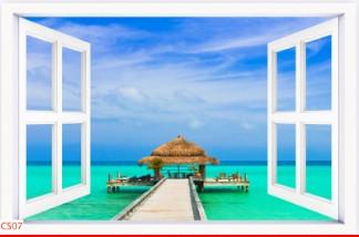 Hình ảnh Tranh dán tường cửa sổ CS07