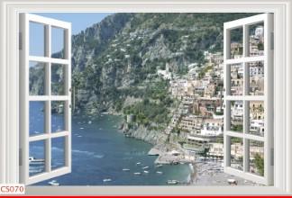 Hình ảnh Tranh dán tường cửa sổ CS070