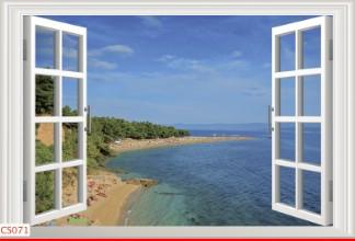 Hình ảnh Tranh dán tường cửa sổ CS071