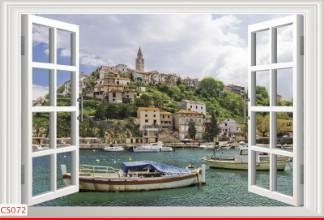 Hình ảnh Tranh dán tường cửa sổ CS072