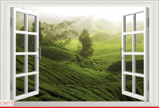 Hình ảnh Tranh dán tường cửa sổ CS073