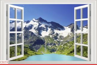 Hình ảnh Tranh dán tường cửa sổ CS074