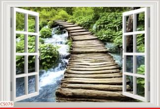 Hình ảnh Tranh dán tường cửa sổ CS076