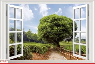 Hình ảnh Tranh dán tường cửa sổ CS077
