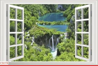 Hình ảnh Tranh dán tường cửa sổ CS078