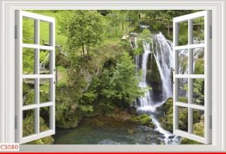 Hình ảnh Tranh dán tường cửa sổ CS080