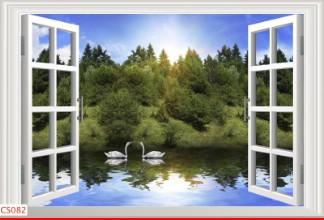 Hình ảnh Tranh dán tường cửa sổ CS082