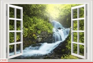 Hình ảnh Tranh dán tường cửa sổ CS083
