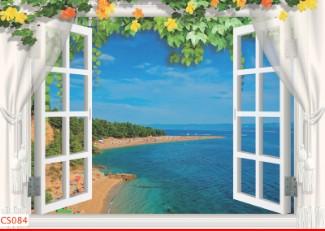 Hình ảnh Tranh dán tường cửa sổ CS084