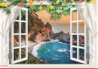 Hình ảnh Tranh dán tường cửa sổ CS085