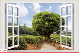 Hình ảnh Tranh dán tường cửa sổ CS086