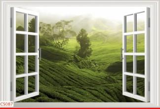 Hình ảnh Tranh dán tường cửa sổ CS087