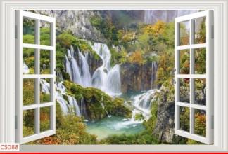 Hình ảnh Tranh dán tường cửa sổ CS088