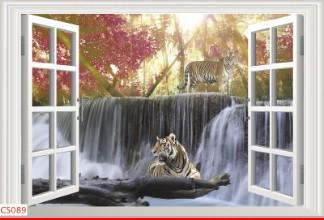 Hình ảnh Tranh dán tường cửa sổ CS089
