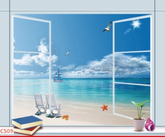 Hình ảnh Tranh dán tường cửa sổ CS09