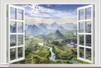 Hình ảnh Tranh dán tường cửa sổ CS090