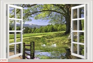 Hình ảnh Tranh dán tường cửa sổ CS091