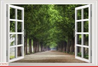 Hình ảnh Tranh dán tường cửa sổ CS092