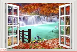 Hình ảnh Tranh dán tường cửa sổ CS093