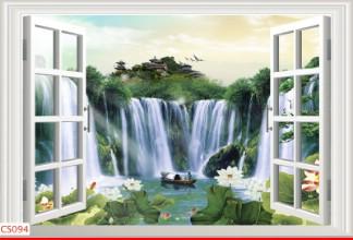 Hình ảnh Tranh dán tường cửa sổ CS094