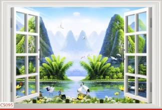 Hình ảnh Tranh dán tường cửa sổ CS095