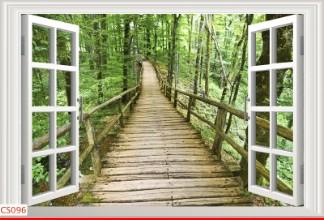 Hình ảnh Tranh dán tường cửa sổ CS096