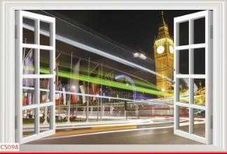 Hình ảnh Tranh dán tường cửa sổ CS098
