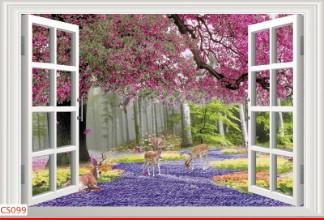 Hình ảnh Tranh dán tường cửa sổ CS099