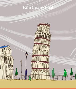 Hình ảnh Tranh dán tường thành phố m-016