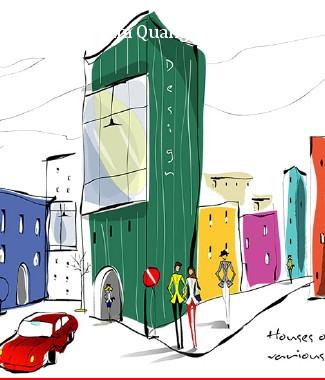 Hình ảnh Tranh dán tường thành phố m-044