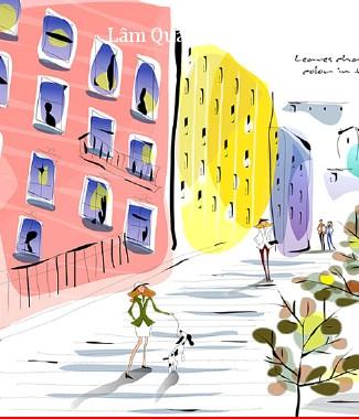 Hình ảnh Tranh dán tường thành phố r-076